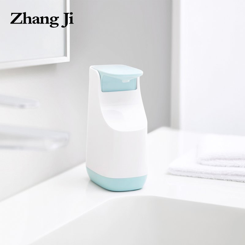 ZhangJi 350 Ml Liquid Soap Dispenser Pump ABS Plastic Refillable Kitchen Hand Wash Soap Bottle Bathroom Sampoo Soap Dispenser