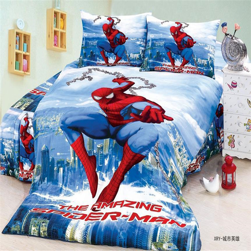 Spiderman Boys Bedding Set Duvet Cover Bed Sheet Pillow Cases Twin Single Size In Sets From Home Garden On Aliexpress Alibaba Group