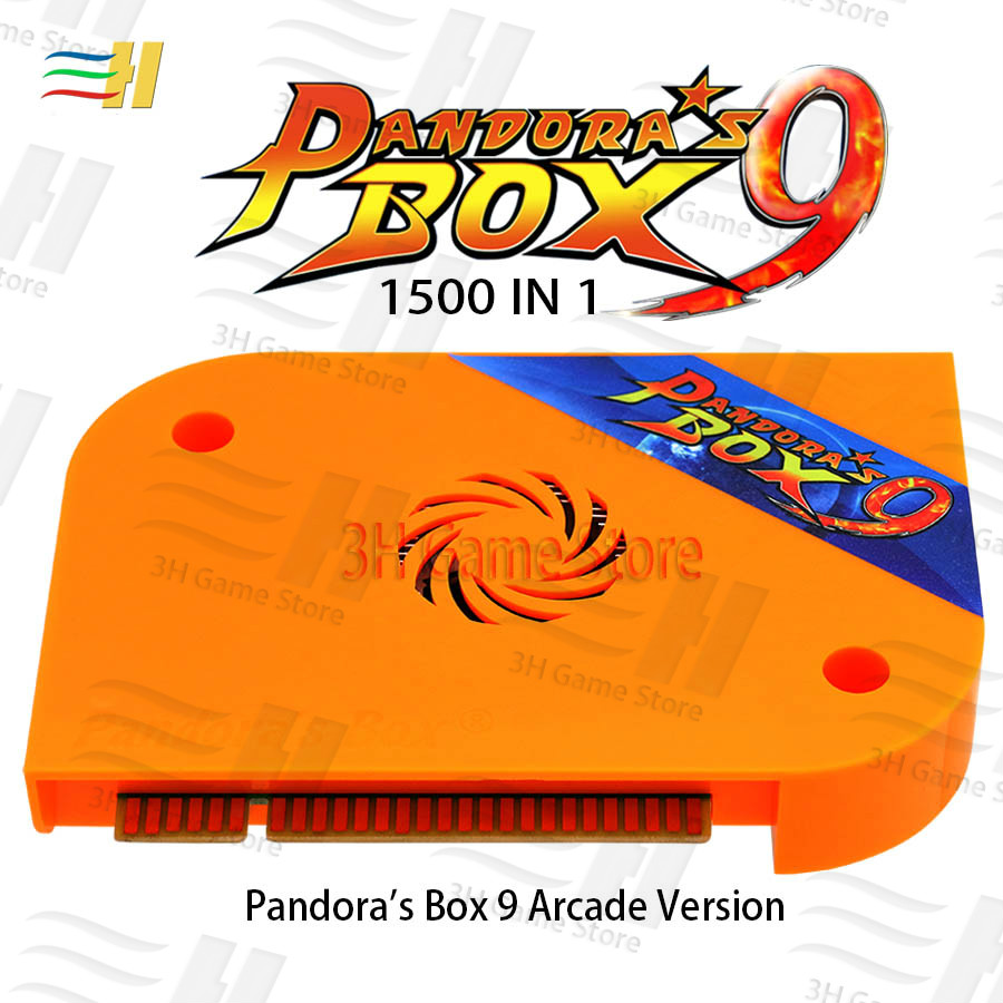 Pandora box 9 arcade version game board Built in 1500 games For arcade machine Pandora's Box 9 1500 in 1 pandora 5s 6s 7 pacman(China)