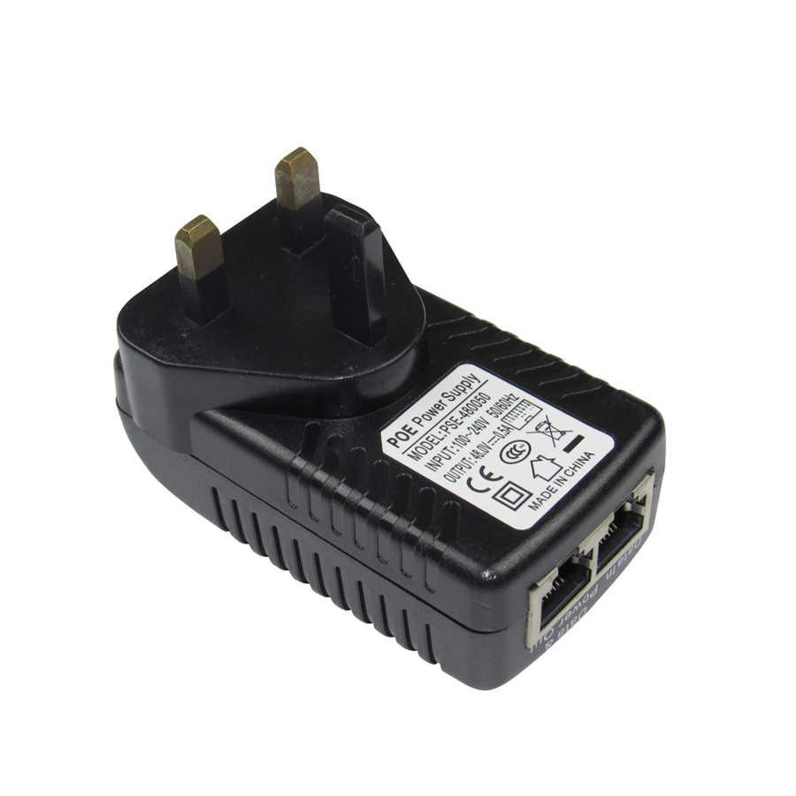 ESCAM DC48V 0.5A CCTV פעיל PoE מזרק Ethernet כוח מתאם עבור IP מצלמה כוח פין 4/5 (+) 7/8 תואם עם IEEE802.3af