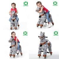 נסיעת חיה צורת זברה הליכה מתנת יום הולדת לילדים צעצועים מכאניים נדנדה סוס לרכב על סוס פוני צעצוע עבור 3-7 שנים ילדים