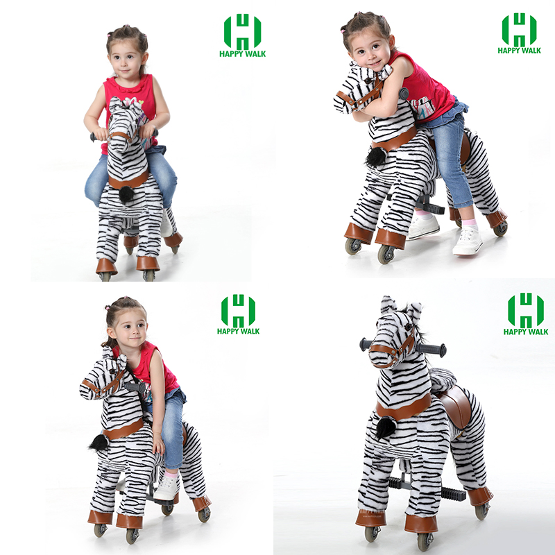 Children Birthday Gift Walking Zebra Shape Animal Ride Toys Mechanical Rocking Horse Ride on Horse Toy Pony for 3-7 Years Kids children rocking horse gift baby eating chair music ride on toy cute duck birthday walker amphibious toys 2 kinds of functions