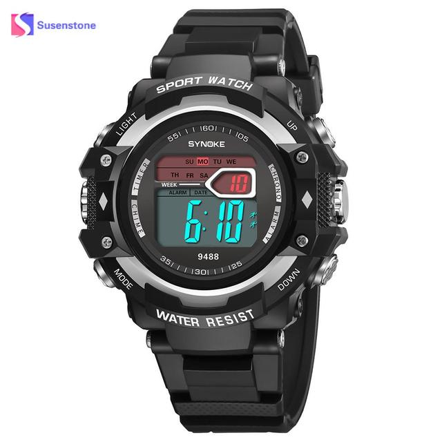 385dad9ba13d Marca de Moda hombre de pulsera deportes multi-función 30 m impermeable  reloj LED Digital