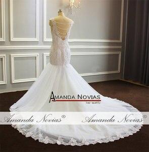 Image 4 - חתונה זר בת ים פניני חתונה שמלה עם נחמד בחזרה לקוחות סדר