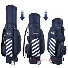 PGM стандартная сумка для гольфа Регулируемая Мужская воздушная сумка для гольфа Женская телескопическая шариковая сумка балдрический шкив Многофункциональная крышка с Твердые чехлы
