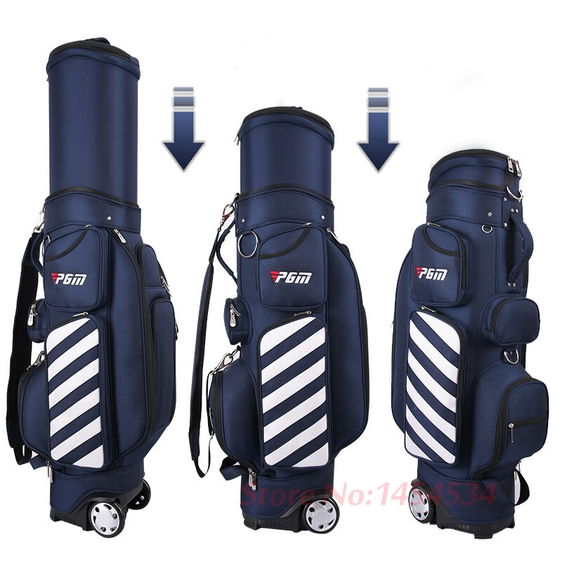 PGM Golf Standard Bag Adjustable Men Golf Air Bag Women Telescopic Ball Bag Baldric Pulley Multi-function Cover with Hard Shells free shipping 2018 uglyuros motorcycle retro back seat bag 883modified car multi function kit bag moto bag with waterproof cover