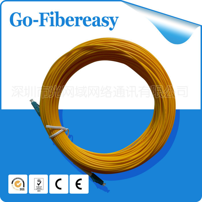 5pcs/lot 30meters Fiber Optic Patch Cord LC/UPC to LC/UPC Single mode Simplex, SM,PVC Cable