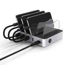 Универсальный Съемный зарядка через usb станции показывают желаю 34 W 5 V стенд крепления держателя зарядное устройство 4-Порты и разъёмы 2.4A рабочего зарядки док-