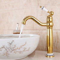 gold basin faucet antique gold plated table antique cold and hot faucet deck mounted tap all copper single hole
