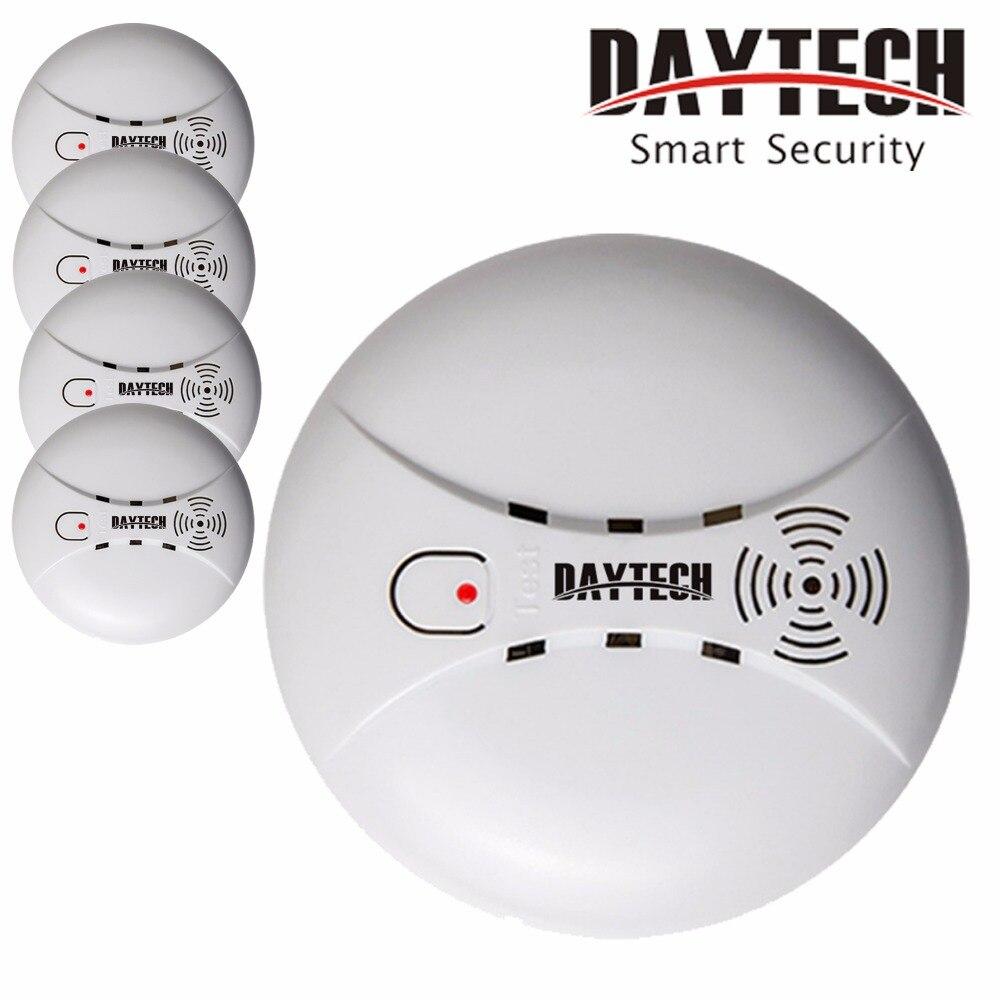 DAYTECH détecteur de fumée alerte capteur alarme incendie capteur batterie alimentée pour cuisine/maison/centre commercial/hôtel/Restaurant/bureau 5 pièces