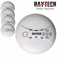 DAYTECH Smoke Detector Alert Sensor Fire Alarm Sensor Battery Powered For Kitchen Home Mall Hotel Restaurant