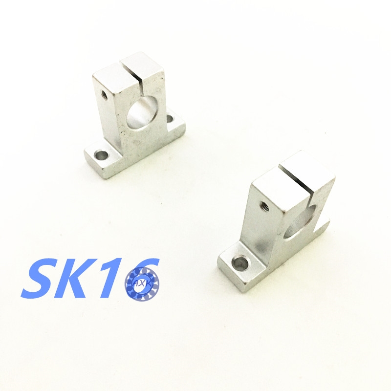 4pcs/lot Free Shipping SK16 16mm linear bearing rail shaft support XYZ Table CNC Router SH16A стоимость