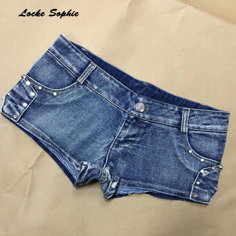 1pcs Lage taille Sexy vrouwen jeans denim shorts 2019 Zomer Mode denim katoen Splicing rits Dames Skinny super korte jeans