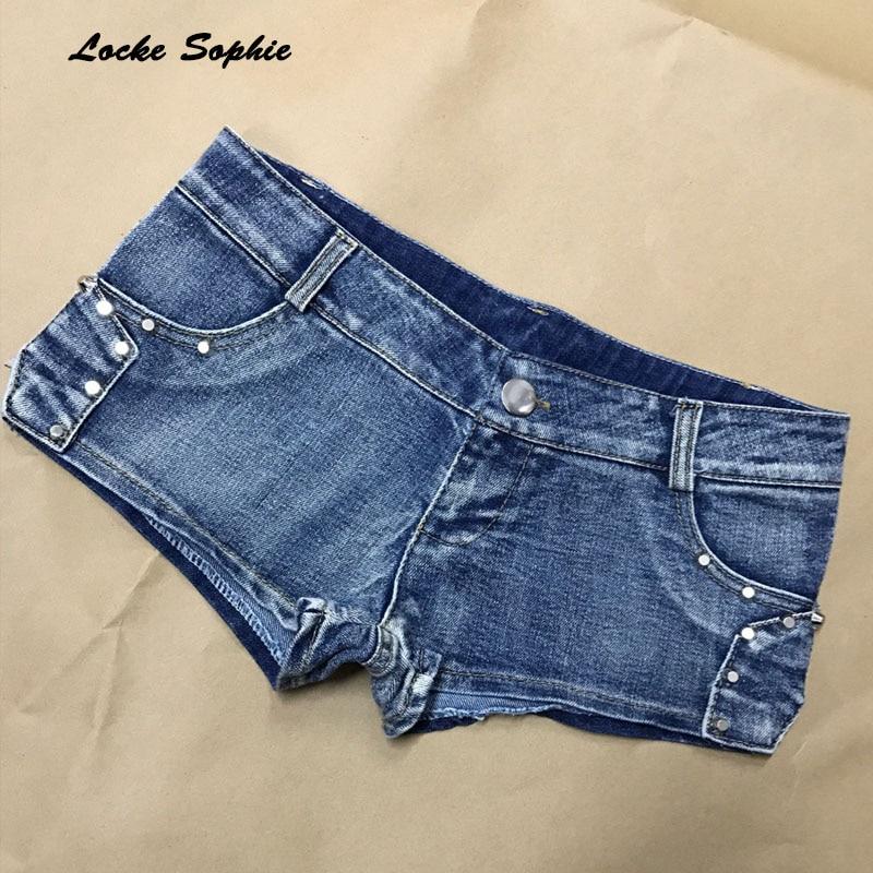 1pcs Low Waist Sexy Women's Jeans Denim Shorts 2019 Summer Fashion Denim Cotton Splicing Zipper Ladies Skinny Super Short Jeans