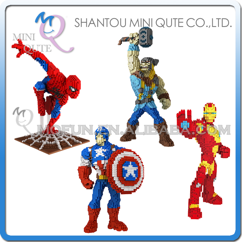 Mini Qute PZX movie avengers Spiderman thor Captain America Iron Man super hero building block figures boys educational gift toy the avengers figures super hero toy doll baby hulk captain america superman batman thor iron man free shipping
