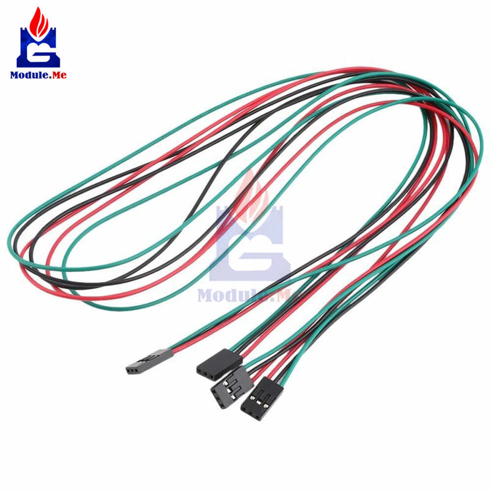 5PCS/Lot 70cm 3 Pin Cable Female to Female Jumper Wire for Arduino 3D Printer Reprap Jumper Cable