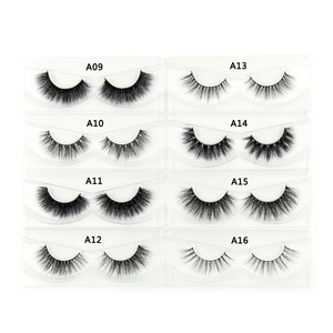 Image 4 - 100Pairs/Pack Eyelashes 3D Mink Lashes With Tray No Box Hand Made Full Strip Lashes Mink False Eyelashes Makeup eyelashes Fluffy