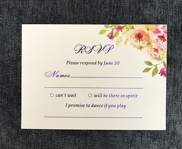 aliexpress com   buy 100pcs printed rsvp cards from
