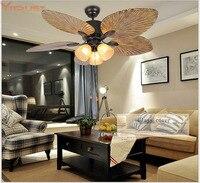 Потолочный вентилятор лампы вентиляторы свет Спальня гостиной удаленного Управление промышленного ретро Лофт подвесной вентилятор кафе О