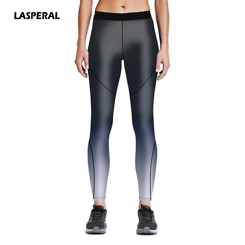 Prix pour LASPERAL Vente Chaude Femmes Fitness Leggings Noir Ligne Imprimer Yoga Pantalon Élastique Extensible Entraînement Pantalon Vêtements de Sport Plus La Taille