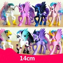 2018  Pets 14cm Horse Rarity Kunai Action Toy Figures Christmas Little Gift Toy Princess Cadance