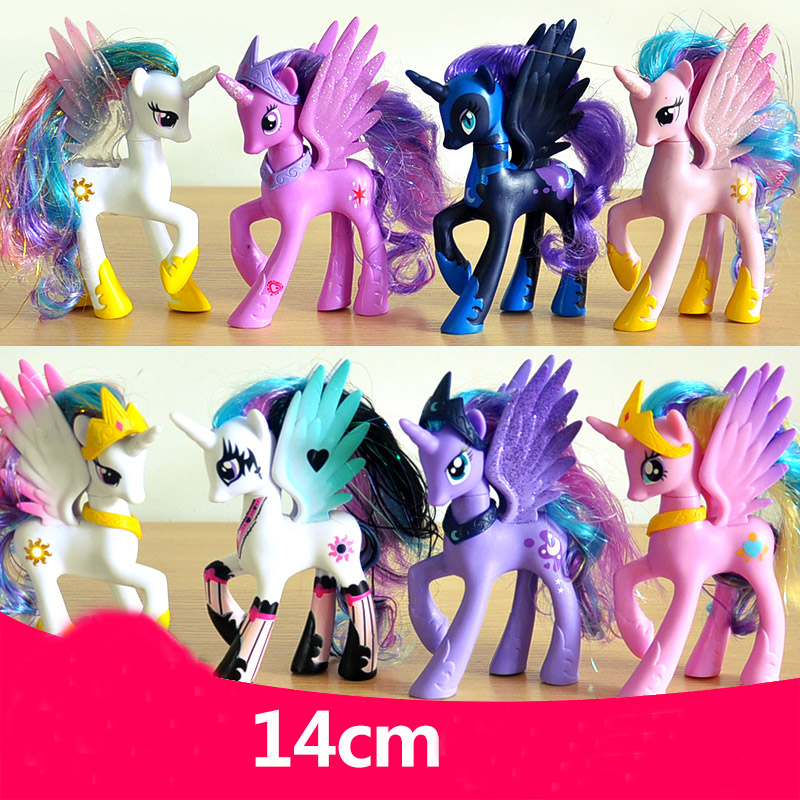 2018 Unicorn Pets 14cm Horse Rarity Kunai Action Toy Figures Christmas Little Gift Unicorn Toy Princess Cadance 16pcs set 4 6cm little pvc action toy figures horse princess celestia christmas gift for kids toys