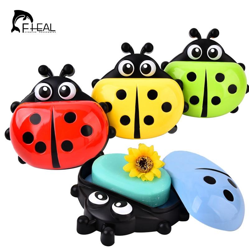 FHEAL Ljubko Ladybug škatla za milo Kopalnica odtenek držalo mila - Organizacija doma