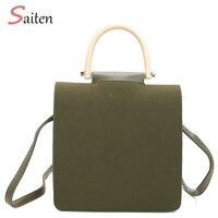 Luxury Handbags Women Bags Designer Wood handle Bag Crossbody Bags For Women Messenger Leather Bag Casual Tote Bolsas Feminina
