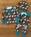 Niño recién nacido Bebé Girls Boy Deer Tops Camiseta Pantalones Largos Sombrero 3 unids Trajes Set