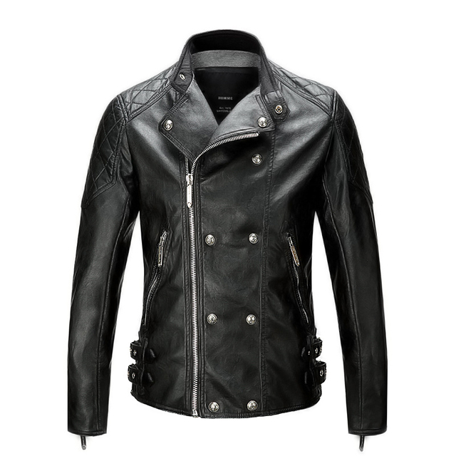 2016 Winter Leather Jacket Men Leather Jackets And Coats Jaqueta De Couro Masculina PU Leather Mens Punk Veste Cuir Homme