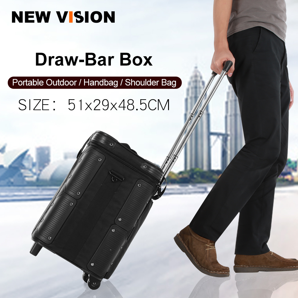 Roller Bag for Photography Photo Video Studio on Location Shoots Outdoor Shooting Draw Bar Box Stuido