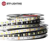 Tira de luces LED de 5m DC12V, 5050 SMD, 60LEDs/m, Flexible, RGB RGBW, 5050, tira de luces LED, 300LEDs, cinta de luces LED para TV, resistente al agua