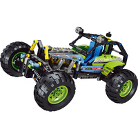 494PCS The New Building Blocks Hot Technology Off Road Car SUV Assemblage Model Compatible Cars Blocks Toys for Boys