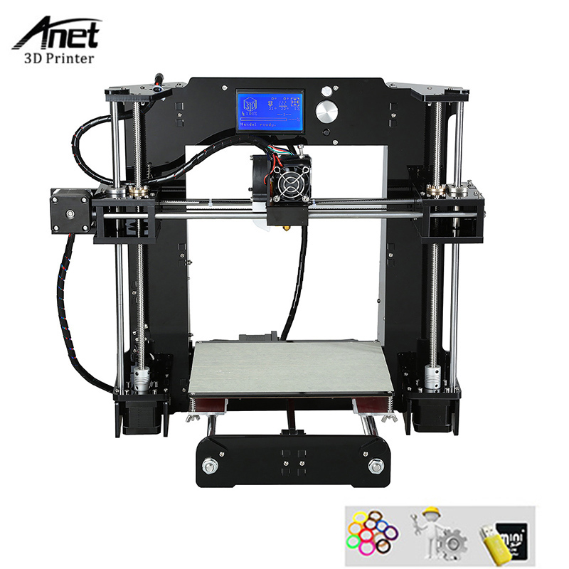 Made in China Reprap i3 Anet A6 DIY 3d Printer High Accuracy ABS 3d Printing Machine High Quality 3d Printer With Filament 2018 new diy tt 1s mini 3d printer 220v 110v universal made from cn fully assembled supplied with 0 3kg filament in random color