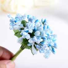 12pcs/lot Mini artificial Stamen Bud Bouquet Beads flower wedding Car corsage Decoration Craft Fake Flower Pearl Simulation 8Z(China)