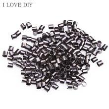 Wholesale  500/1000pcs 1.5mm  Metal Tube Crimp  End Beads for DIY Jewelry Making Bracelets Necklaces