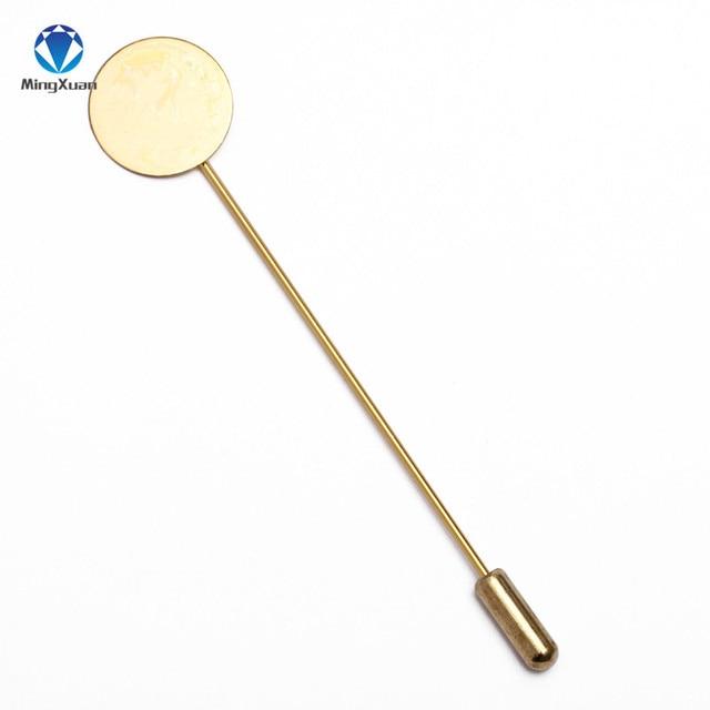 Mingxuan 10 шт 10/15 мм круглая пустая модная медная плоская