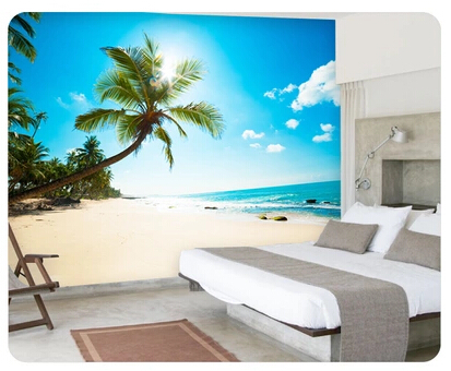 Seascape Beach Seaside Large 3d Mural Wallpaper Modern Living Room