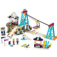 01042 Friends LegoINGlys 41324 Snow Resort Ski Lift Gift Club Ski Vacation Skiing Figure Building Blocks