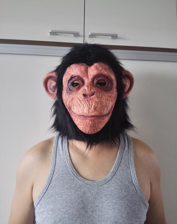 Animal Masks Animal Themed Costumes Monkey Orangutan Mask Cosplay Prop Halloween Accessories Men Women Face Mask Full Head Costumes & Accessories