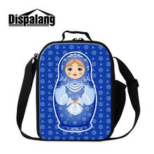 Russian Doll Printing Lunch Bag for Children School Fashionable Cute Lunch Box Kawii Insulated Cooler Bag for Girls Food Bags(China)