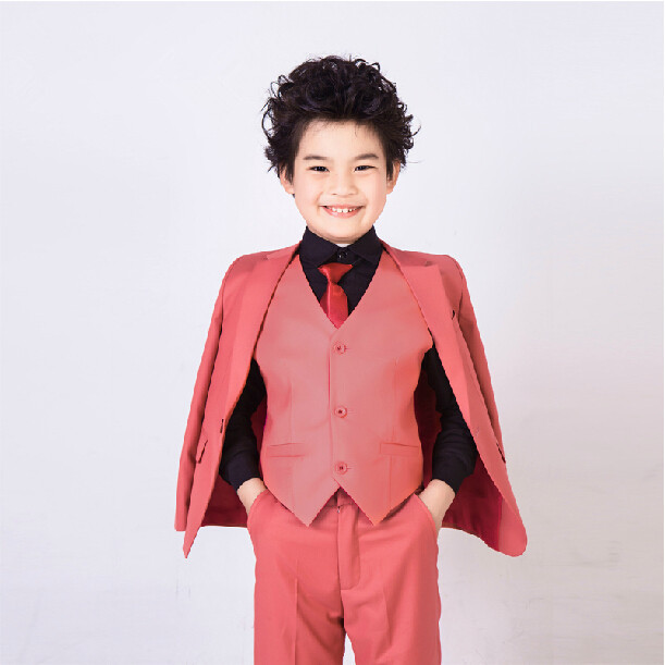 ФОТО 2016 fashion baby purple red casual blazers jackets boys suits for weddings formal flower boy clothing child kids prom suit