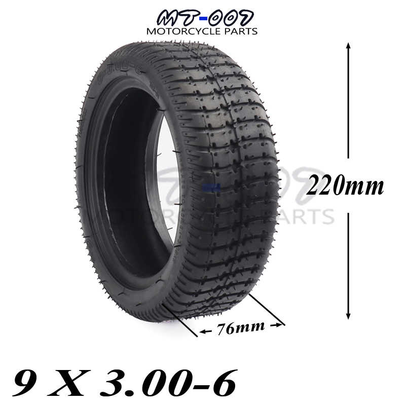 9X3.00-6 9inch single shaft brushless gearless motorcycle tire tyre