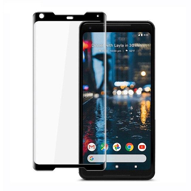 Jappinen Para Google Pixel 2 XL 9 H Cobertura Completa Filme Protetor de Tela Para O Google Pixel 2 Vidro Temperado 3D vidro curvo