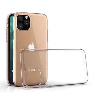 Image 1 - 100Pcs שקוף סיליקון TPU רך כיסוי עבור iPhone 11 12 מקרה עבור iPhone 11 פרו מקרה עבור iPhone 11 פרו מקסימום Ultra דק מקרה