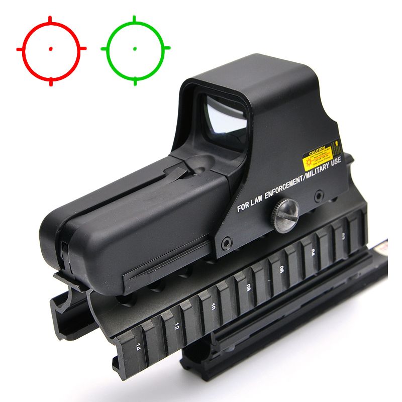 Collimator Holographic Sight Red DOptic Sight Reflex Sight With 20mm Rail Mounts For Airsoft Sniper Rifle Hunting