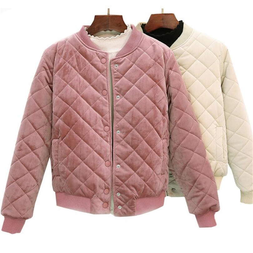 Autumn Winter Women Short Cotton Coats W