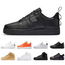 2019 New 1 Utility Classic Black White Men Women Casual Shoes red Orange Sports Leisure High Low Cut Wheat Trainers size 40-45