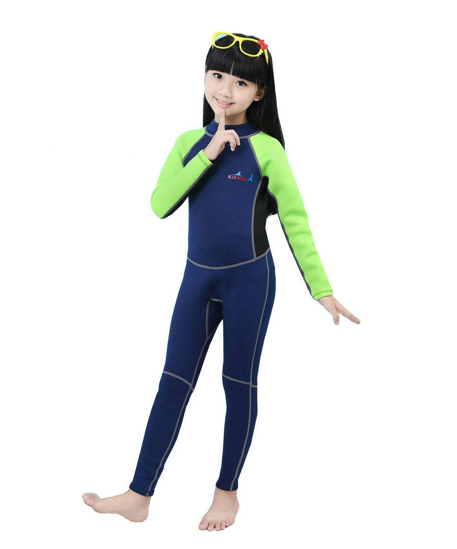 Wetsuits Youth 2 mm Spring Wet Suit Swimwear Swim Suits for Girls and Boys Full Body One piece