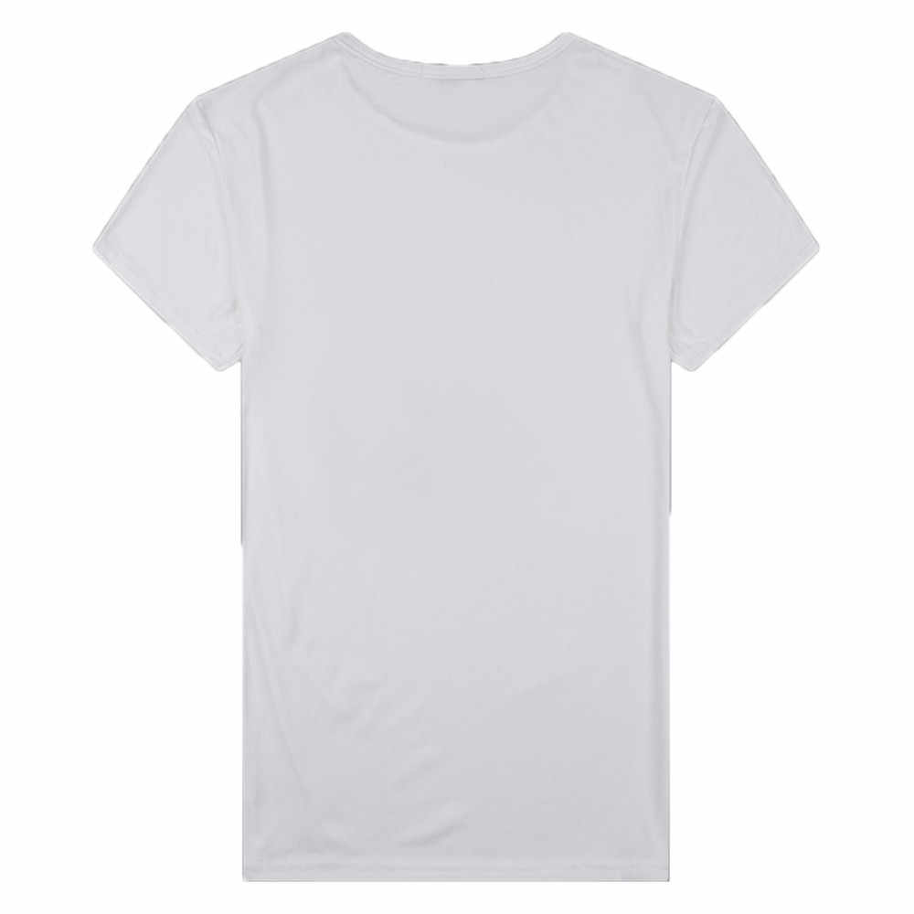 Tshirt 2019 Pria Musim Panas Kasual Slim Fit Dicetak Lengan Pendek T-shirt Pullover Top Blus Kasual untuk Pria T-shirt Gratis pengiriman